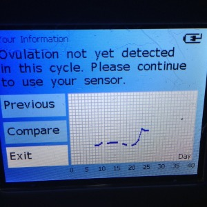 Cycle two - Four days post ovulation and no confirmation from Ovusense...